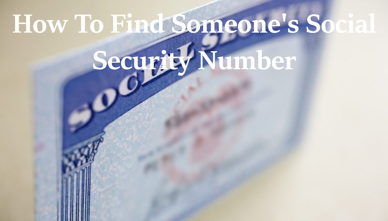 how to find someones social security number